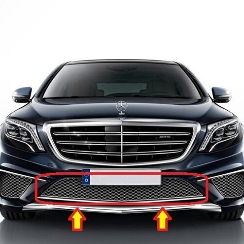 NEW Genuine Mercedes Benz MB Classe S W222 Pare-Chocs Avant Centre Inférieur Grill