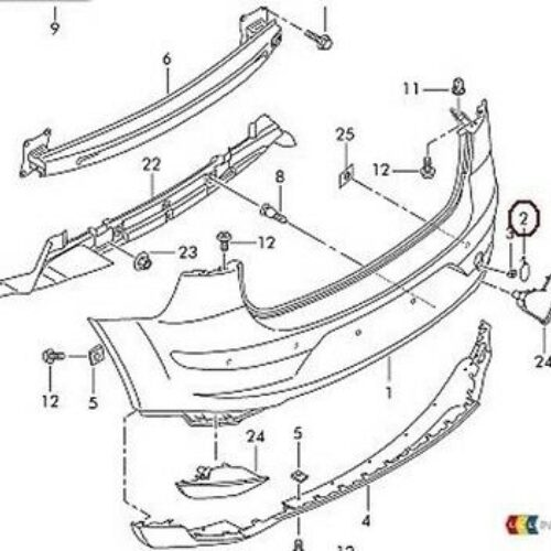 NEW GENUINE SEAT ALTEA XL 07-16 REAR BUMPER TOW HOOK EYE COVER 5P8807441 GRU